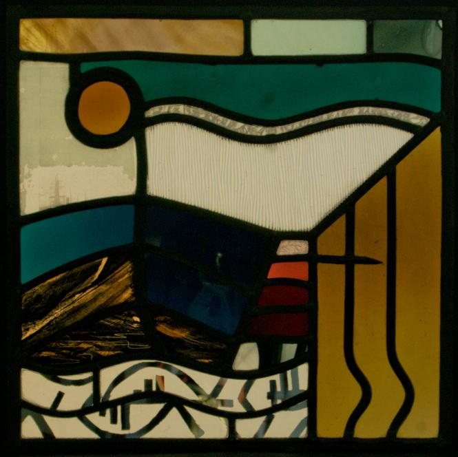 A panel measuring 40 x 40cm depicting Swansea Harbour (2010)