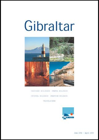 The Gibraltar 2001-2002 holiday brochure, designed for the Gibraltar Tourist Board