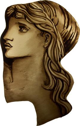 A recreation of a piece from a leaded panel designed by Sir Edward Burne-Jones and fabricated by Morris & Co