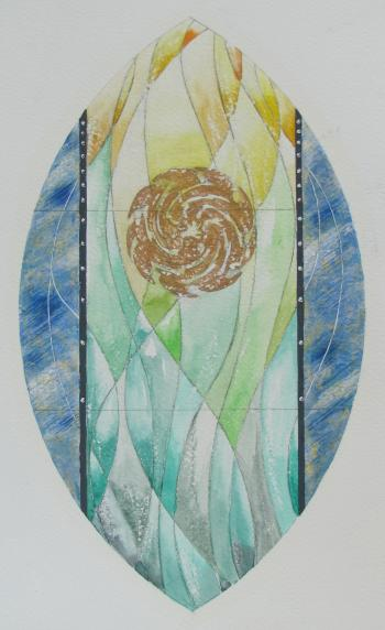 Design proposal for the visica piscis sanctuary window (2011)